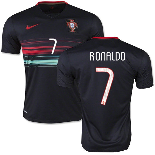 ronaldo jersey portugal away black