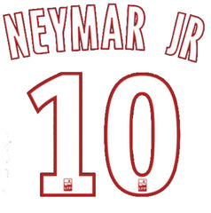 official neymar jr psg name and number set