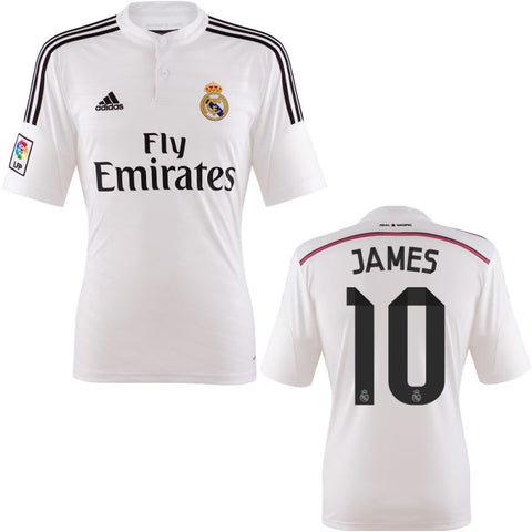 James Jersey Real Madrid 2014 2015 Select Size, Real Madrid soccer jersey - Adidas, G2G Sport Chicago