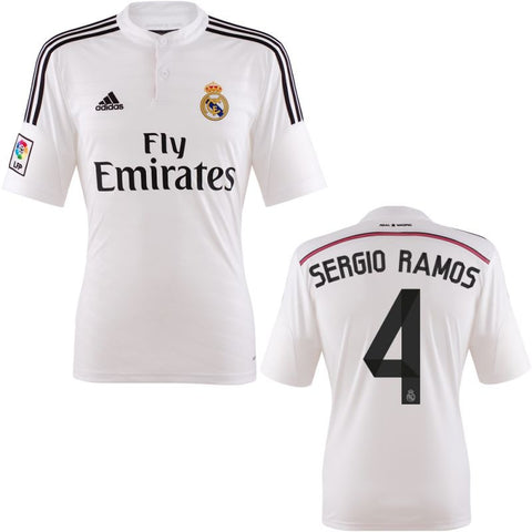 Sergio Ramos Jersey Real Madrid Home 2014 2015 , Sergio Ramos Soccer Jersey - Adidas, G2G Sport Chicago