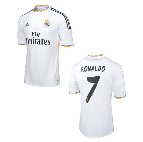 Ronaldo Jersey Real Madrid Home 2013 2014 Select Size, Ronaldo Jerseys - Adidas, G2G Sport Chicago