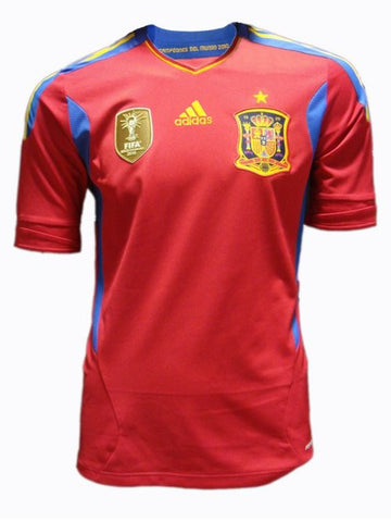 Spain Jersey Youth, Boys and Kids 2011 S, Spain Home Soccer Jersey - Adidas, G2G Sport Chicago