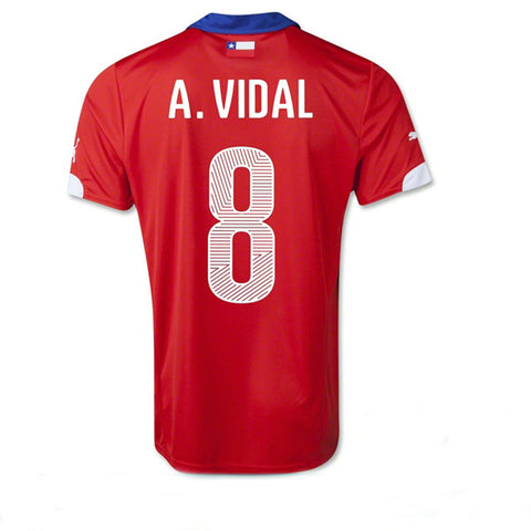 Vidal Jersey Chile Home 2014 , Vidal Chile Home Jersey 2014 - Puma, G2G Sport Chicago
