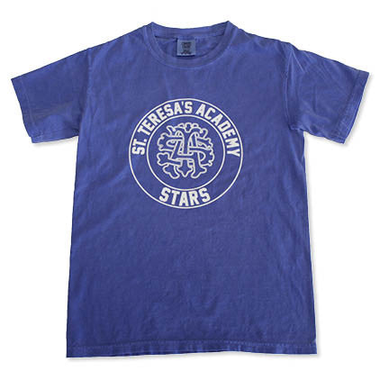 Comfort Colors Blue STA Circle Emblem Short Sleeved T-shirt