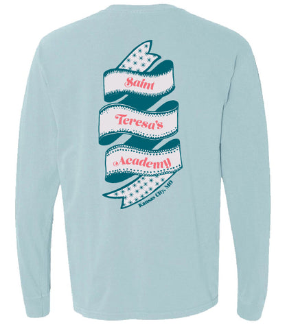 Comfort Colors Chambray STA Ribbon Long Sleeved Pocket T-Shirt