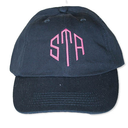 fb3c3ee1 STA Navy With Pink Logo Canvas Baseball Hat – StarShop