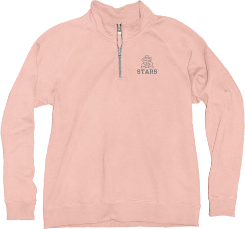 STA Shell Pink Sanded Fleece Quarter Zip