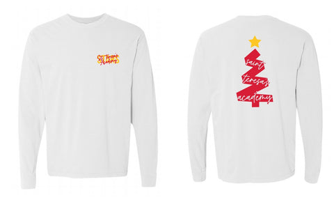 Christmas Tree 2020 White Long Sleeve Tee