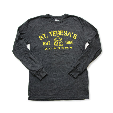 St. Teresa's Black Tri Blend Long Sleeved T