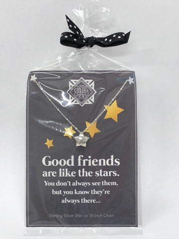 """Good Friends Are Like the Stars"" Charm Necklace"