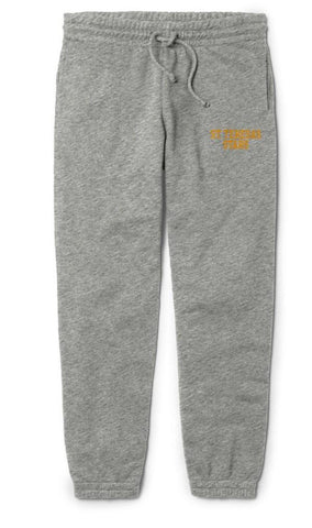 STA Grey Embroidered Jogger Sweatpants