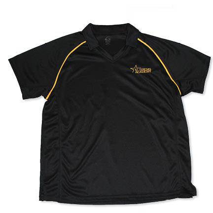 Men's Black Golf Polo