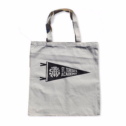 St. Teresa's Academy Pennant Canvas Tote