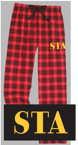 Red Plaid Flannel Pants