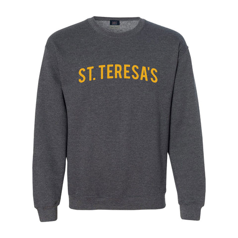 Charcoal St. Teresa's Puff Embroidered Sweatshirt