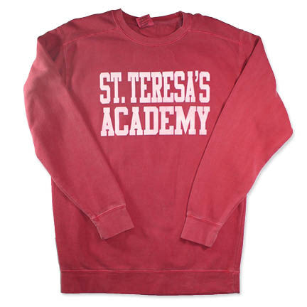 Comfort Colors ST. TERESA'S ACADEMY Red Sweatshirt