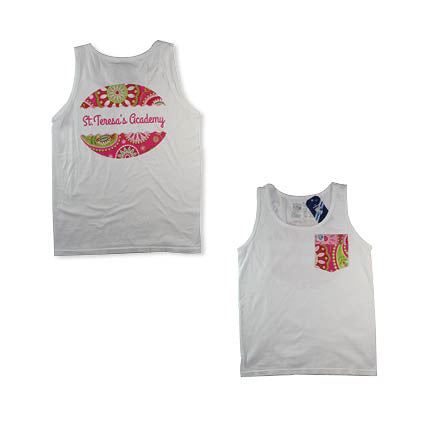 Frocket Flower Pocket Tank T-Shirt