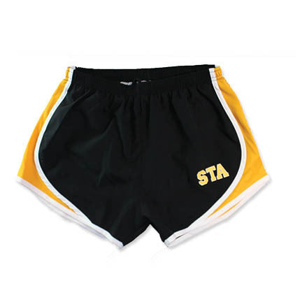 Sport-Tek STA Black Running Shorts