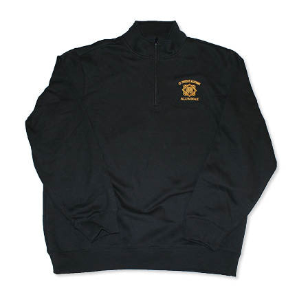 Alumna St. Teresa's Academy with Seal Black Quarter Zip