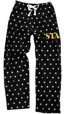 Black Flannel Pants with Stars