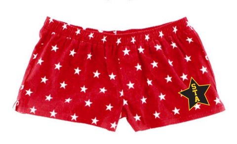 Red Star Flannel Shorts
