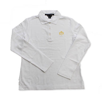 Uniform - STA White Long Sleeved Polo