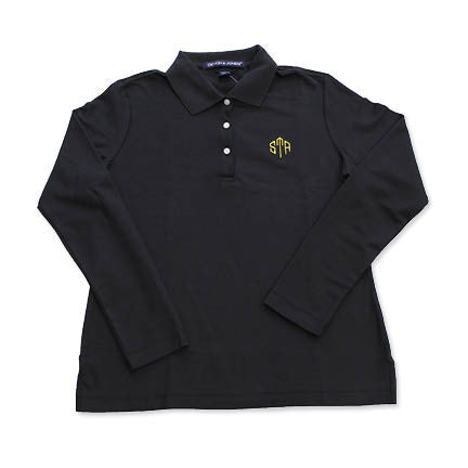 Uniform - UNISEX STA Black Long Sleeved Polo