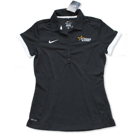 Athletics Nike Dri Fit Black and White Polo