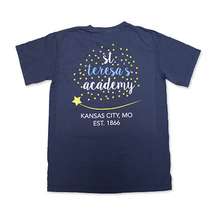 Comfort Colors Navy Stars Pocket T-Shirt