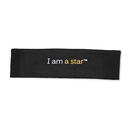 notes to self® 'I am a star'™ Black Headband