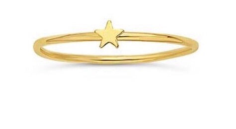 Tiny Star Gold Plated Ring