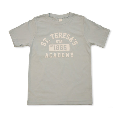 Youth Light Blue St. Teresa's Academy Est.1866 Vintage Crew T-Shirt