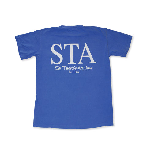 Flo Blue STA Stars Pocket T