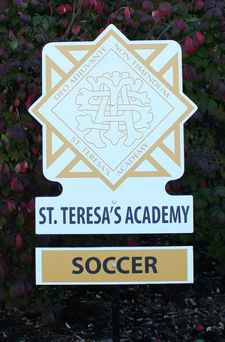 St. Teresa's Academy Plates for Yard Sign