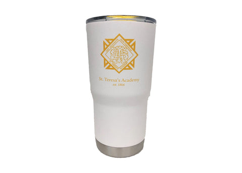STA 16 oz Stainless Steel Insulated Tumbler in White