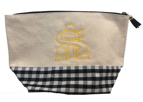 STA Embroidered Zipper Pouch