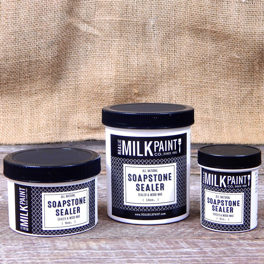 Real Milk Paint Soapstone Sealer and Wood Wax - 16 oz.