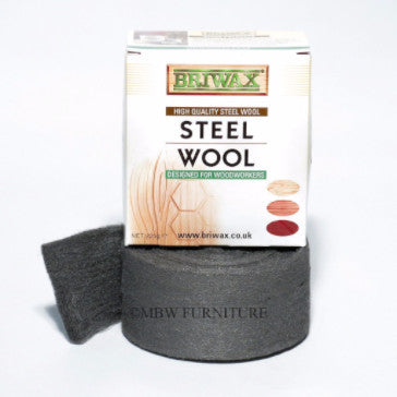 Briwax Steel Wool Grade 0000 Oil Free 225g 1/2lb Roll
