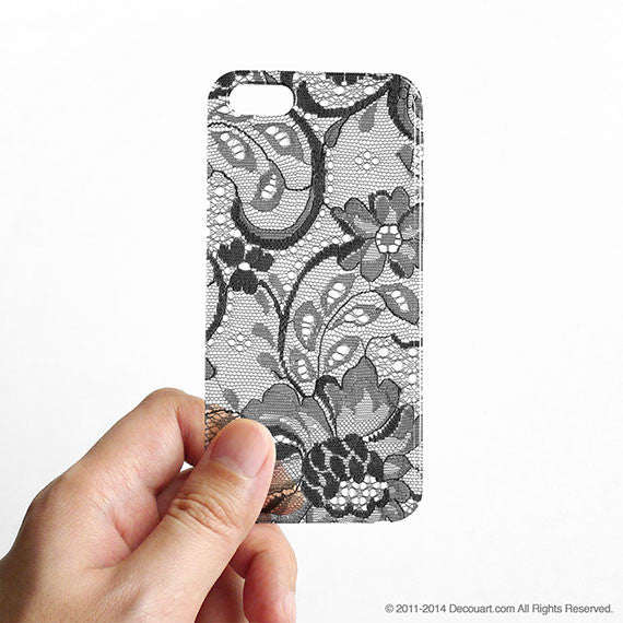 Lace clear printed iPhone 11 case C001 - Decouart