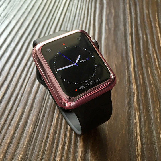 Rose gold apple watch case decouart for Rose gold apple watch