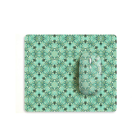 Mint floral mouse with matching mouse pad M001 - Decouart