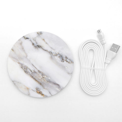Grey Marble wireless charger - Decouart