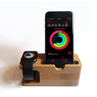 Apple watch / iPhone wood dock, Apple watch charging stand - Decouart
