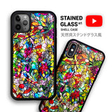 Stained glass floral iPhone case