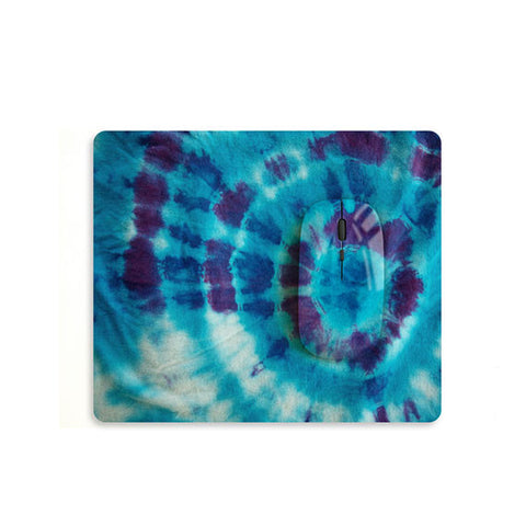 Tie dyed floral mouse with matching mouse pad M002 - Decouart - 1