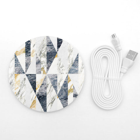 Geometric Marble wireless charger - Decouart