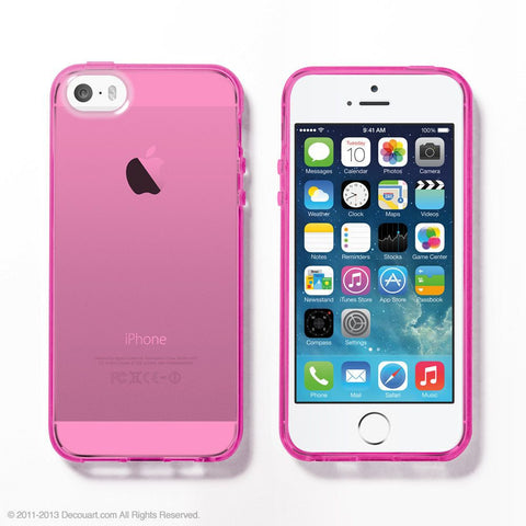 Pink Soft Clear iPhone 6 / 5s case - Decouart - 1