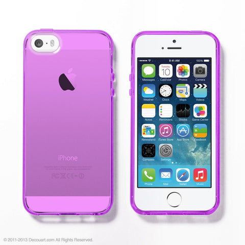 Purple Soft Clear iPhone 6 / 5s case - Decouart