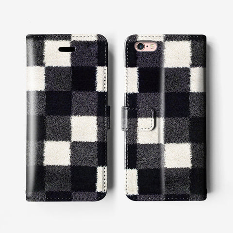 Checkers iPhone 7 wallet case W004