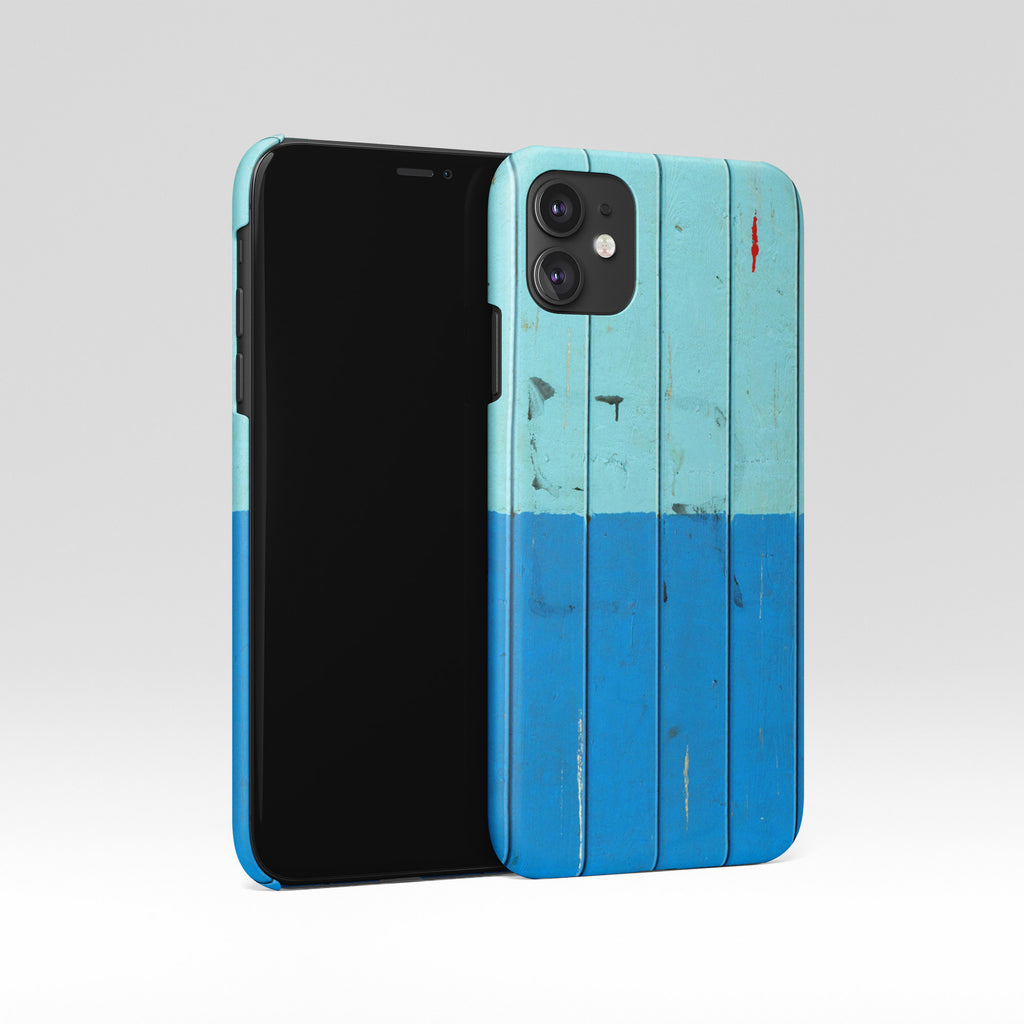 Blue wood iPhone case